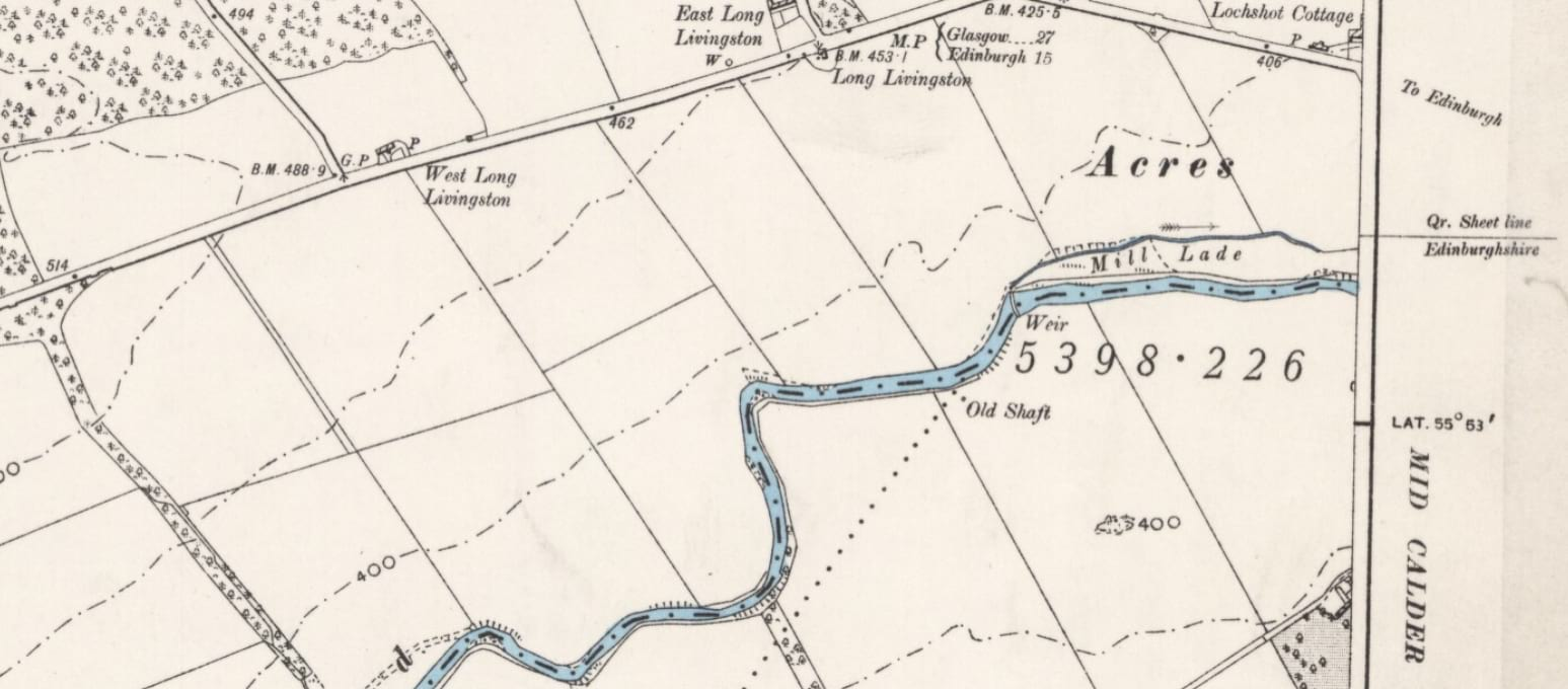 Kirkton weir – a mapped history
