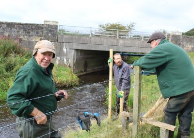 Volunteers working on brash banking
