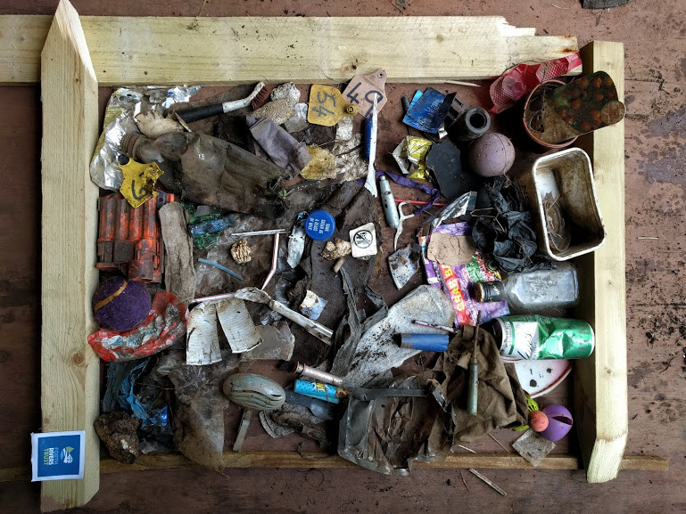 A collection of items found over the volunteering.