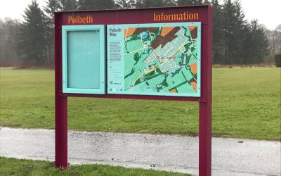 New Map & Information Boards for the Polbeth Community